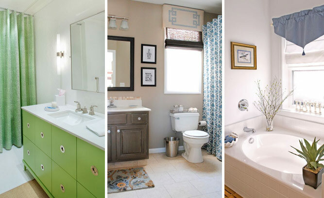 3 ways to decorate a builder basic bathroom style cents for Ways to decorate small bathroom