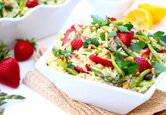 Strawberry and Asparagus Orzo Salad