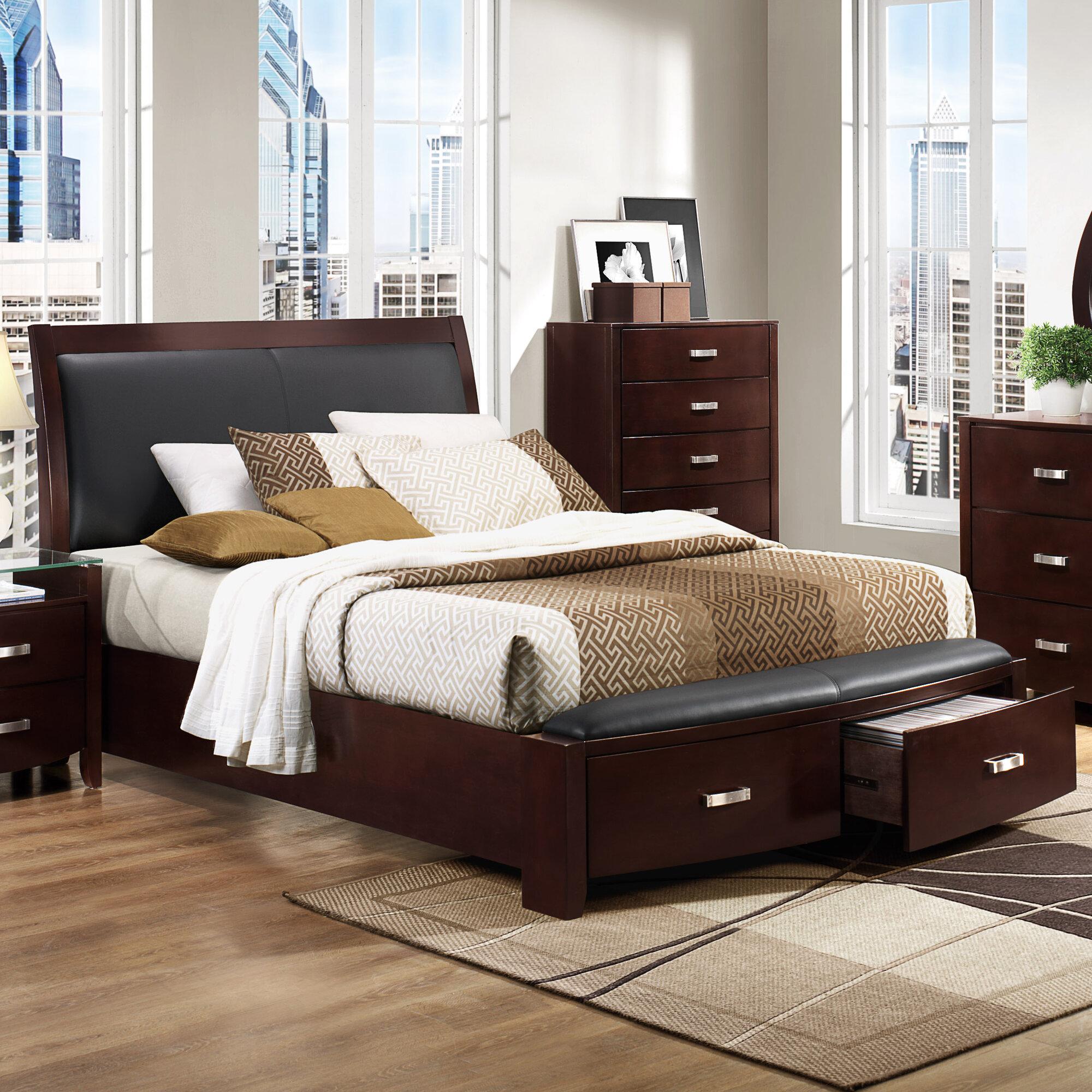 New Queen Size Woodbridge Home Designs Lyric Storage Sleigh Bedroom Set Indoor Ebay
