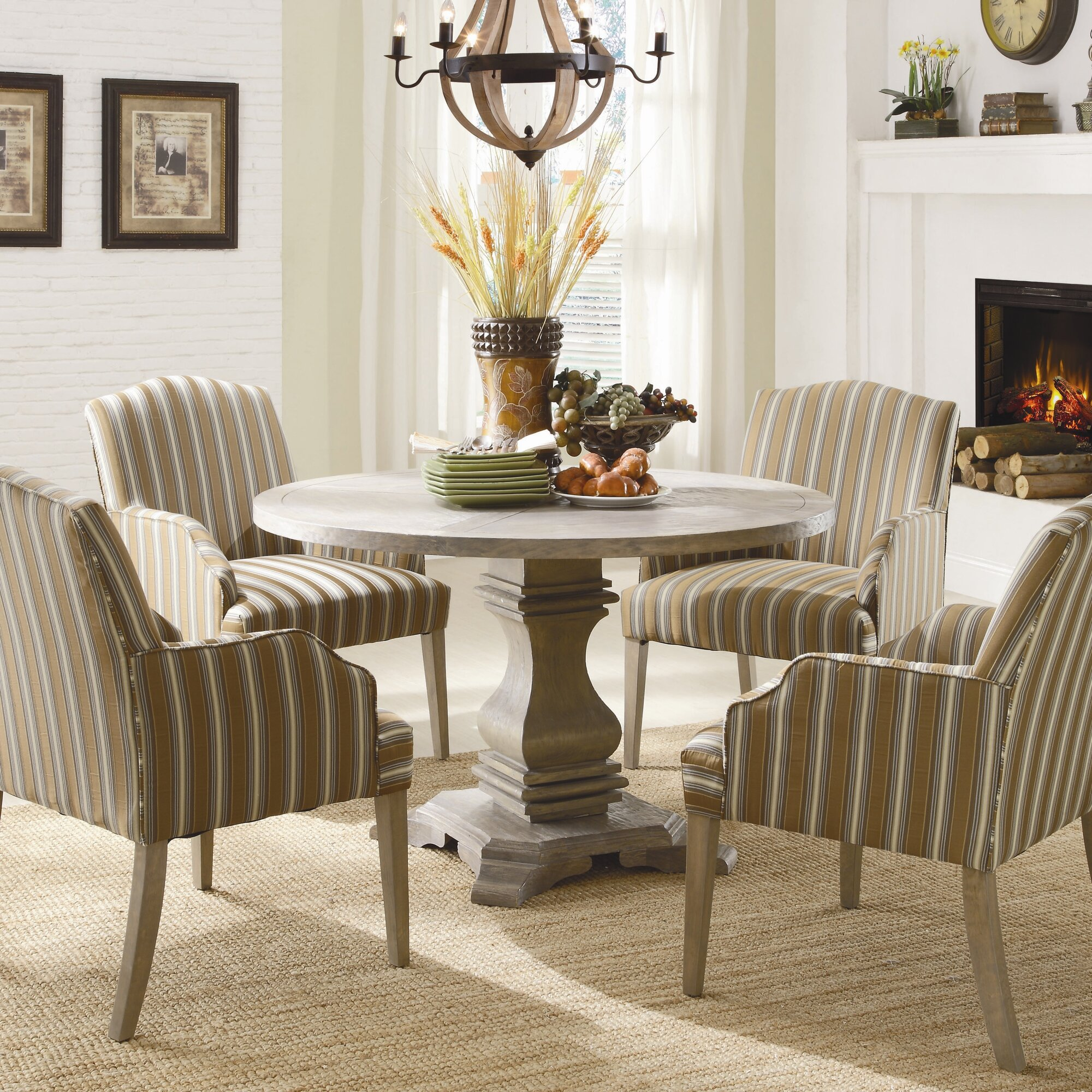 ballard designs dining table ceylon whitewash 7 piece rectangular dining set decor look alikes wayfair euro - Wayfair Dining Chairs