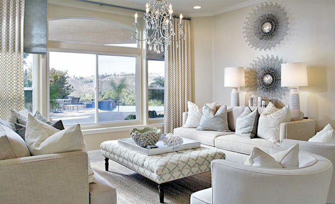 Glam living room decor inspired by wayfair for Hollywood glam living room ideas
