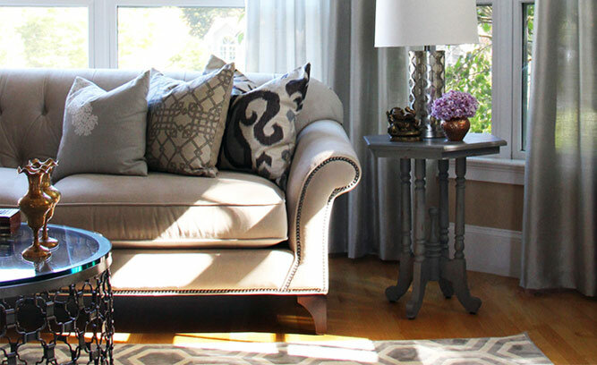 an elegant neutral living room inspired by wayfair