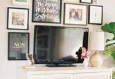 How to Hide a TV with Wall Art