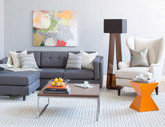 Get the Look on a Budget: Bright Modern Living Room