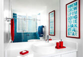 9 Colorful Bathroom Updates