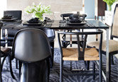 Striking Black Dining Room