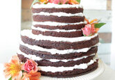DIY Wedding Cake: Peekaboo Layer Wedding Cake
