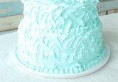 DIY Wedding Cake: Textured Buttercream Wedding Cake
