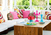 Decorating a Colorful Modern Outdoor Space
