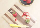 DIY Mixed Wood Cutting Board