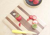 DIY Mixed Wood Cutting Board
