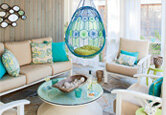 A Cheery Family-Friendly Porch