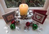 DIY Christmas Wreath Table Centrepiece