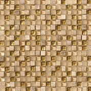 gold mosaic tile