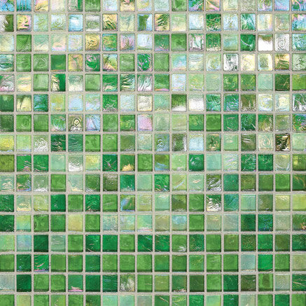 green mosaic tile