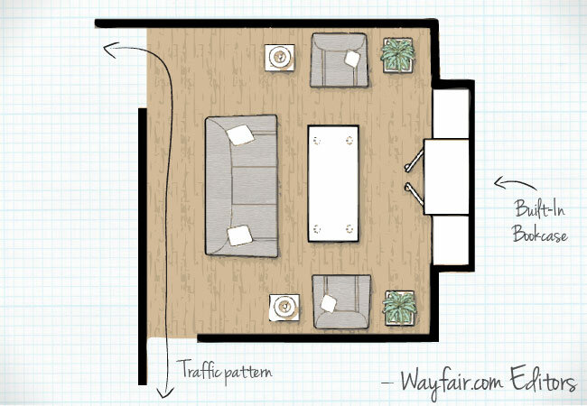 Living room layouts wayfair for Best layout for small living room