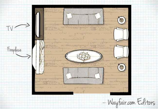 Living room layouts wayfair for U shaped living room layout