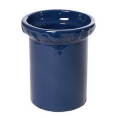 cobalt utensil holder