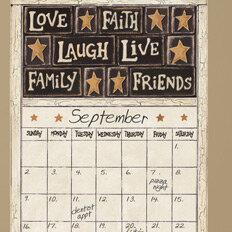 Wall decal calendar