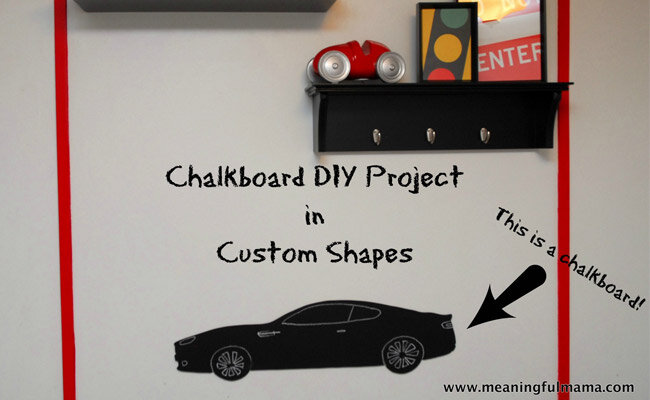 car chalkboard diy