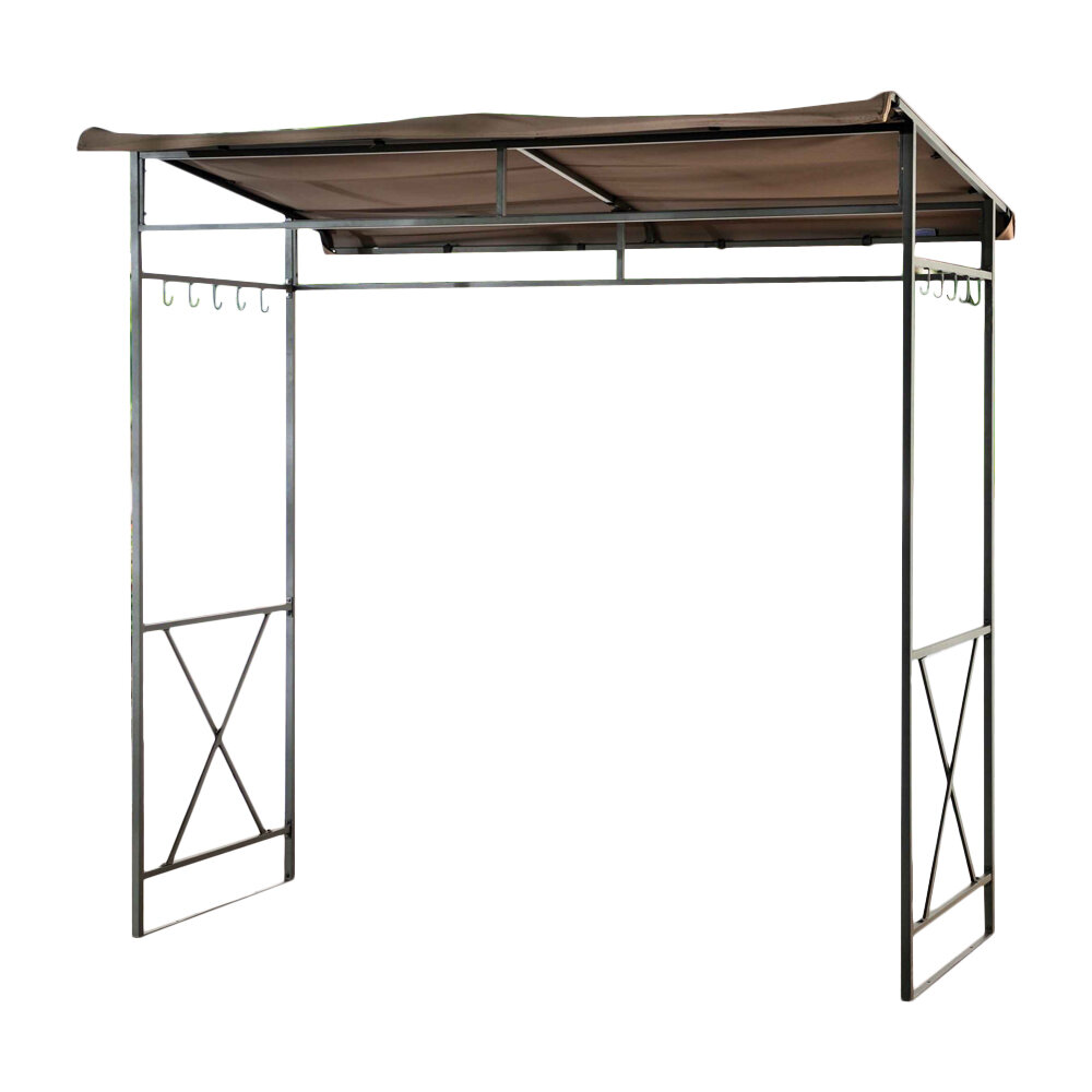 Bbq grill shelter shade hook barbecue gazebo steel patio for Small garden shelter