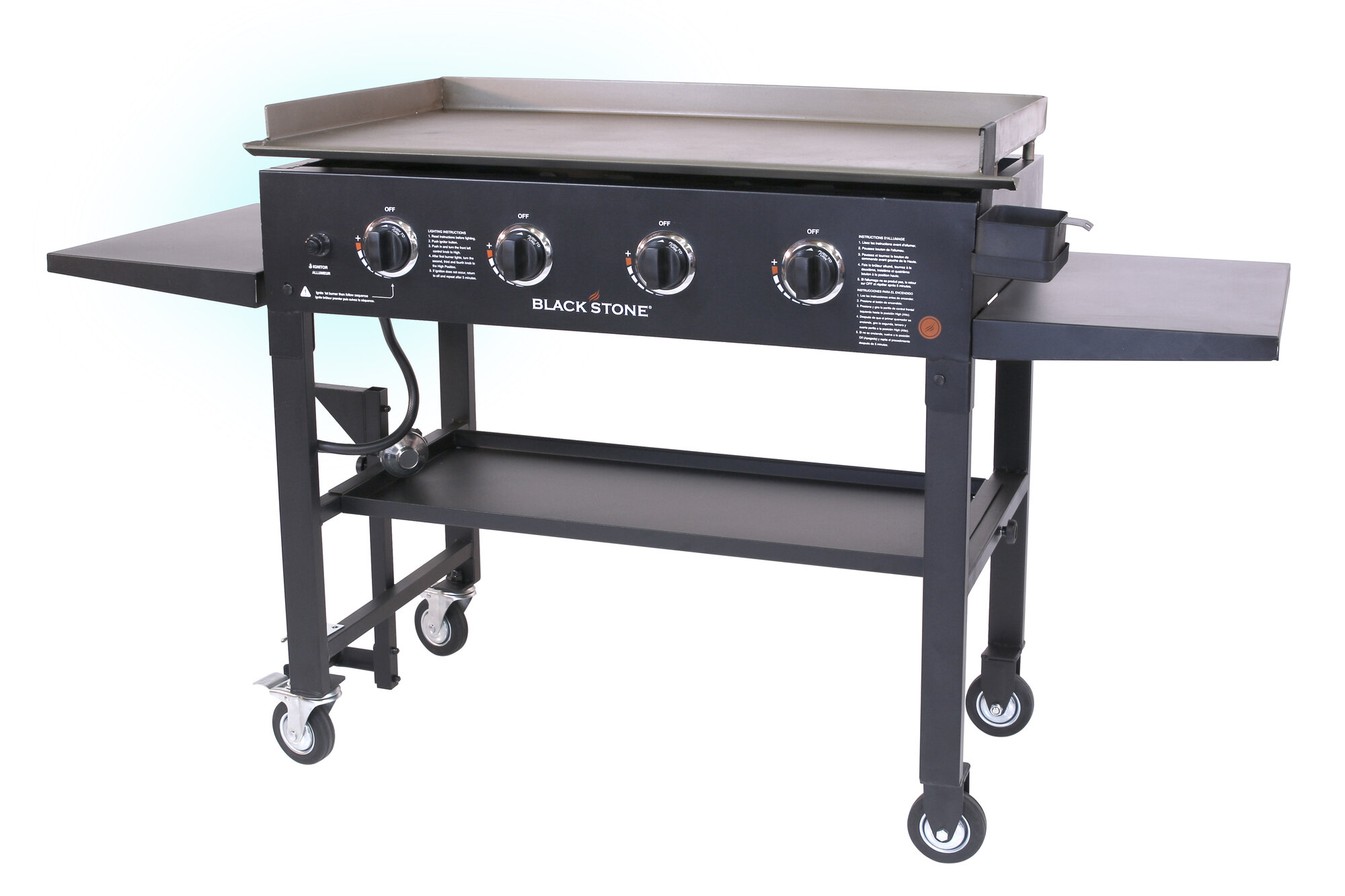 Gas Grill Flat Top Griddle 4 Burner Cooktop Portable BBQ ...