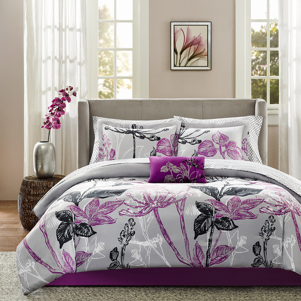 bed comforter set by purple comforter sets purple bedroom ideas
