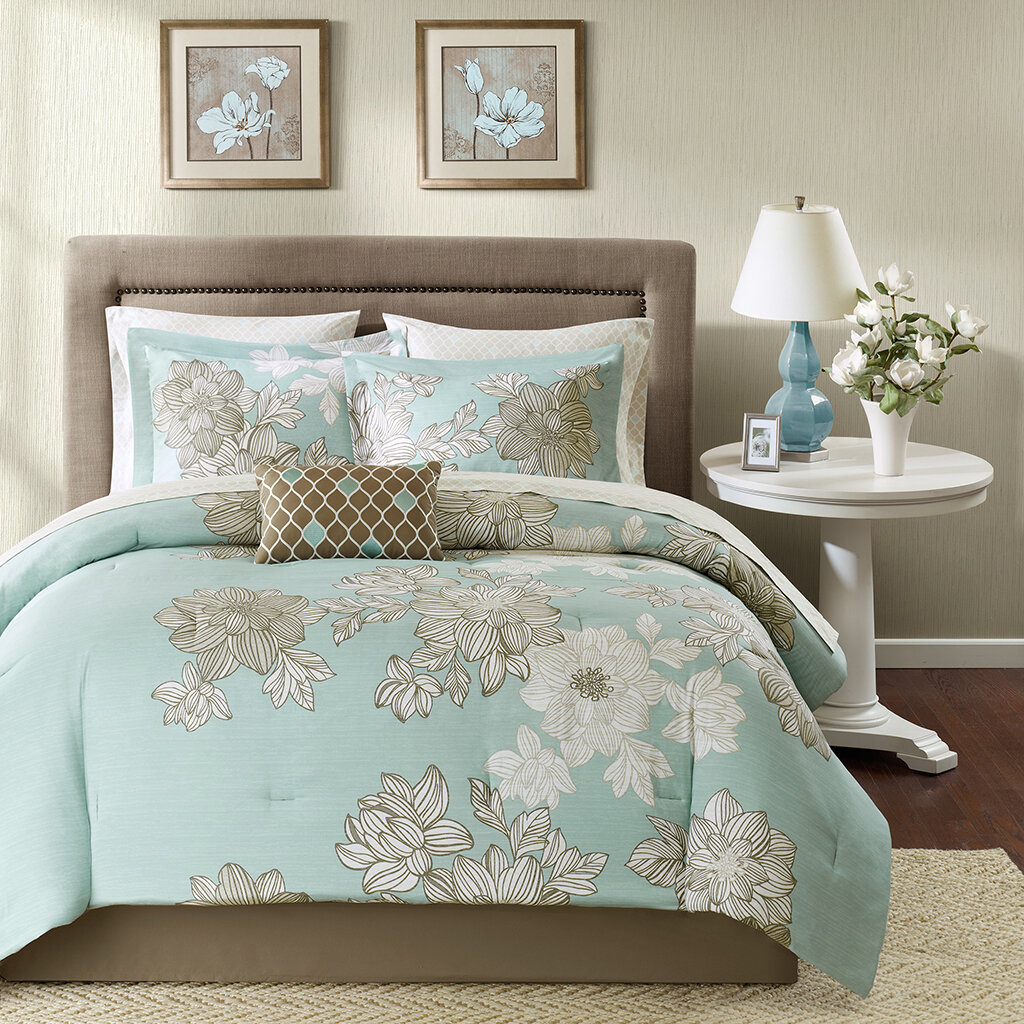 decoholic schemes scheme sets comforter teal gray chocolate bedroom color beautiful
