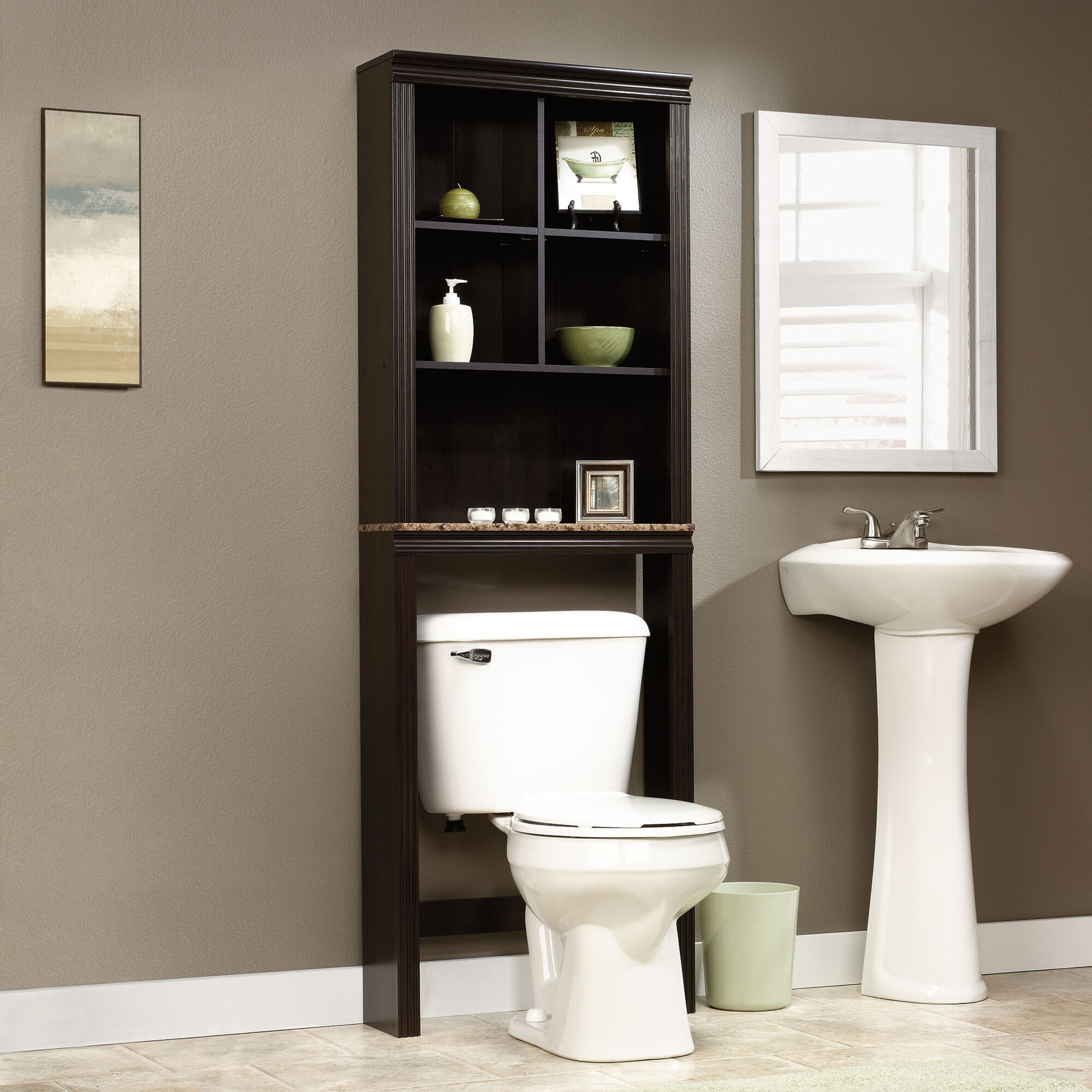 Over The Toilet Storage Bathroom Space Saver Cubby ...