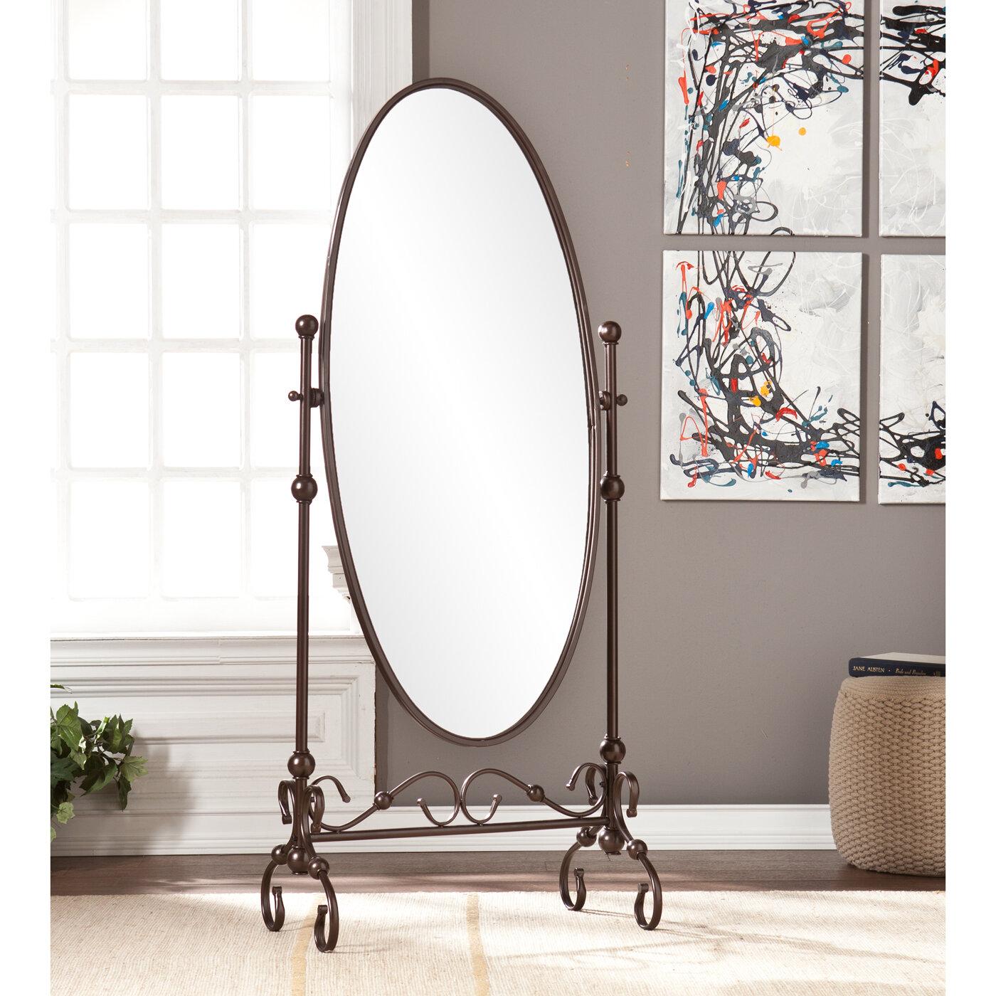 Sleek Mirror Floor Full Length Cheval Accent Decor Tilt