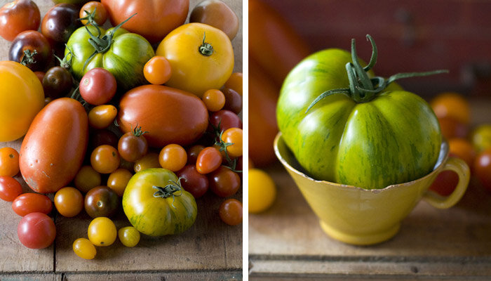 decorate with tomatoes