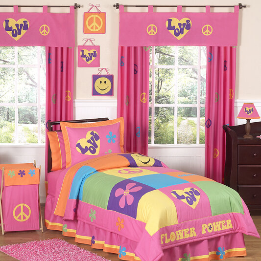 pink and orange bedding for girls