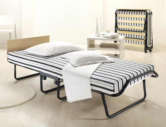 Single Folding Guest Bed Fold Up Spare Beds Wheels