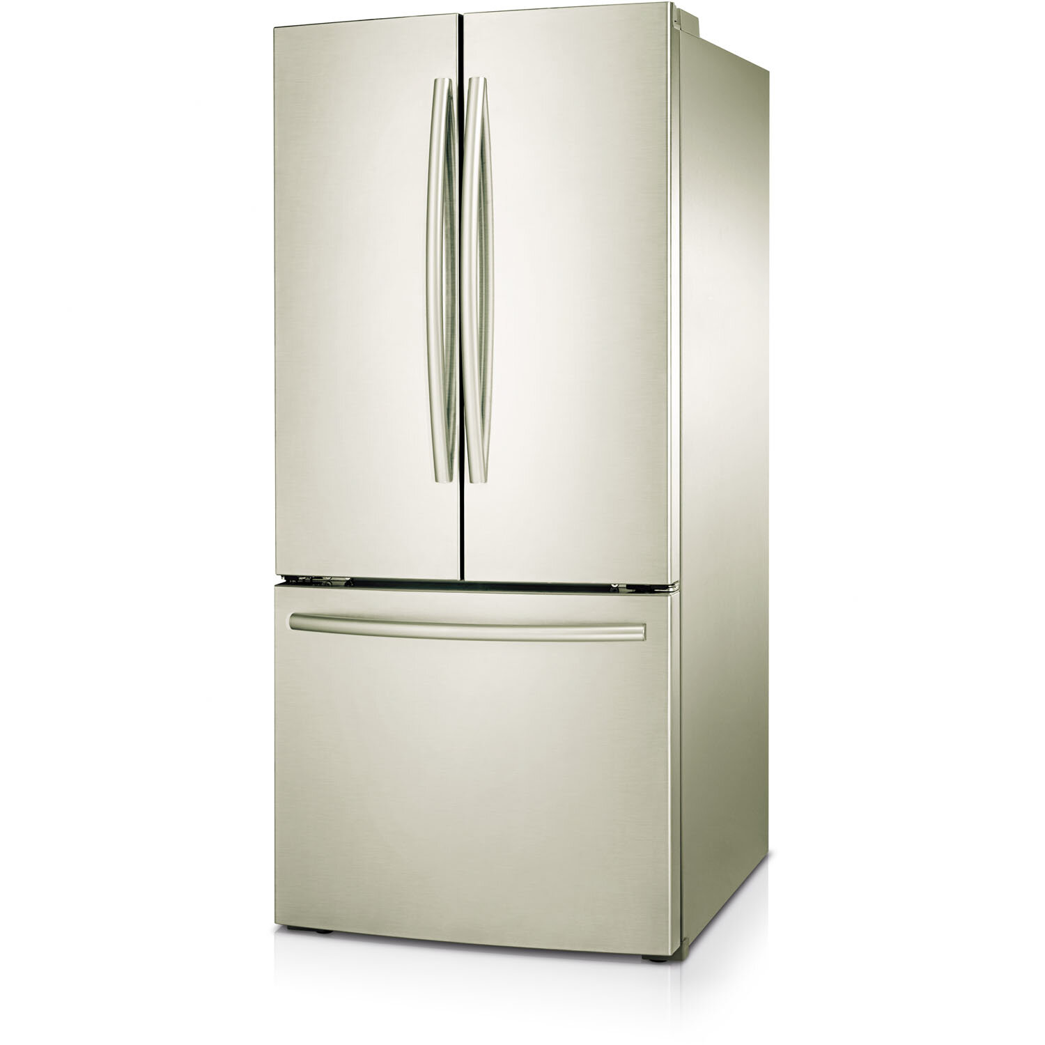 22 1 Cu Ft French Door Refrigerator: Large Refrigerator Stainless Ice Maker 22 Cu. Ft. French
