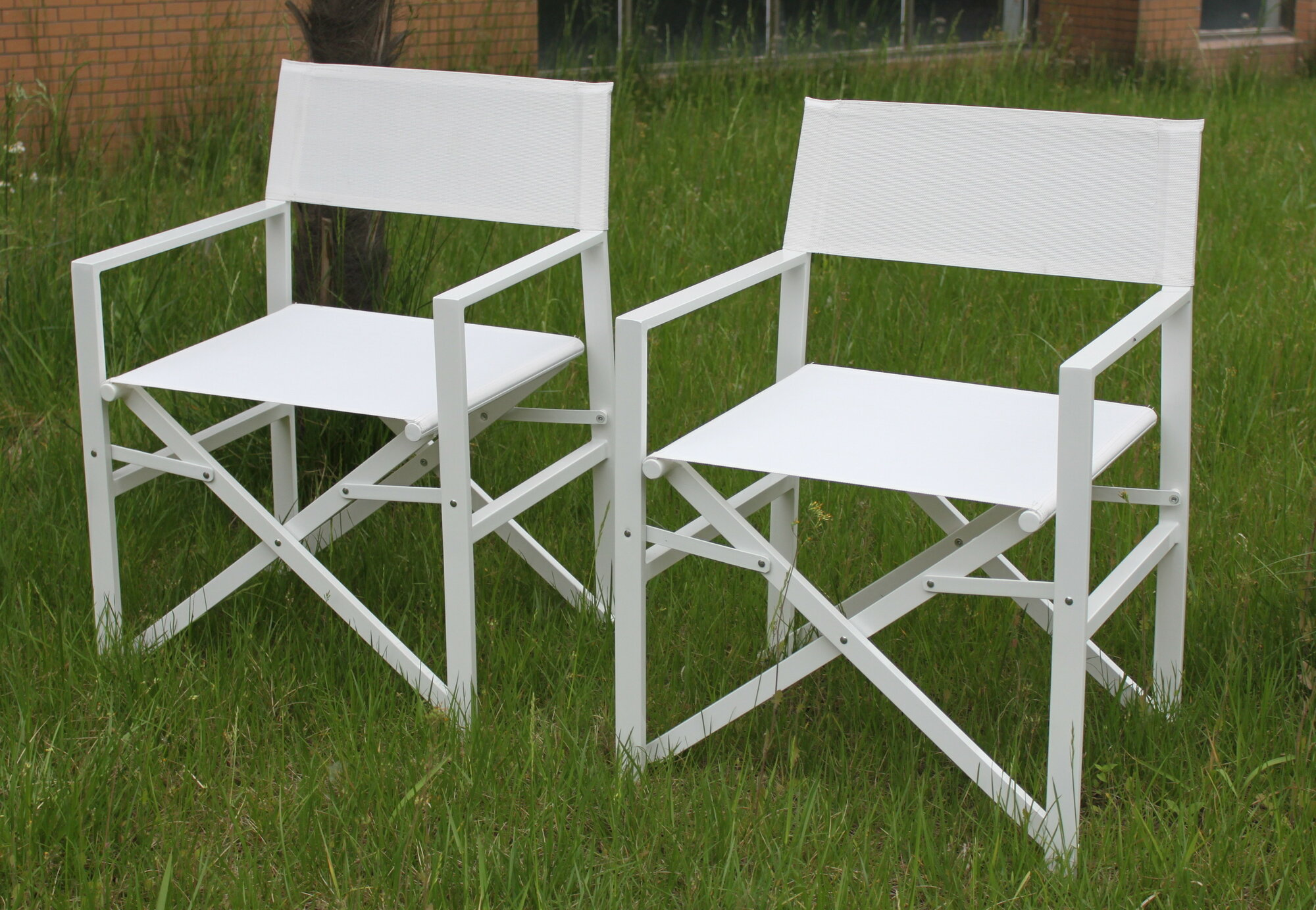 Folding Outdoor indoor Director s Chair Set 2 Naturally Sturdy Color W