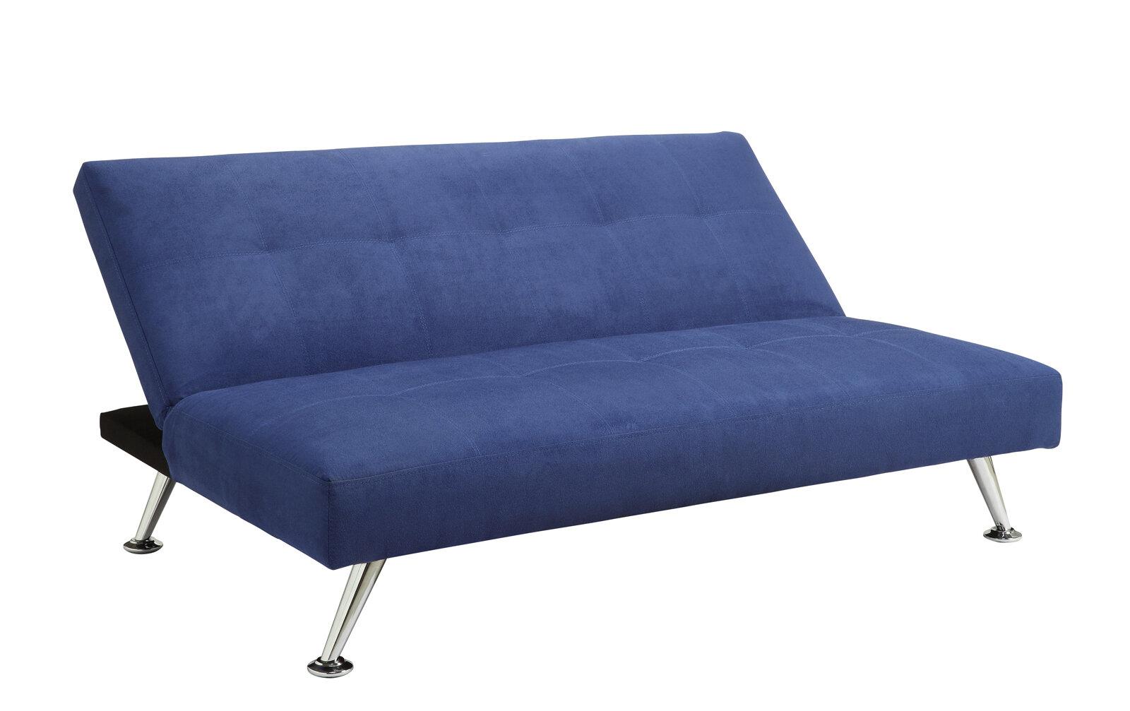 convertible junior futon lounger fold down mini guest bed. Black Bedroom Furniture Sets. Home Design Ideas