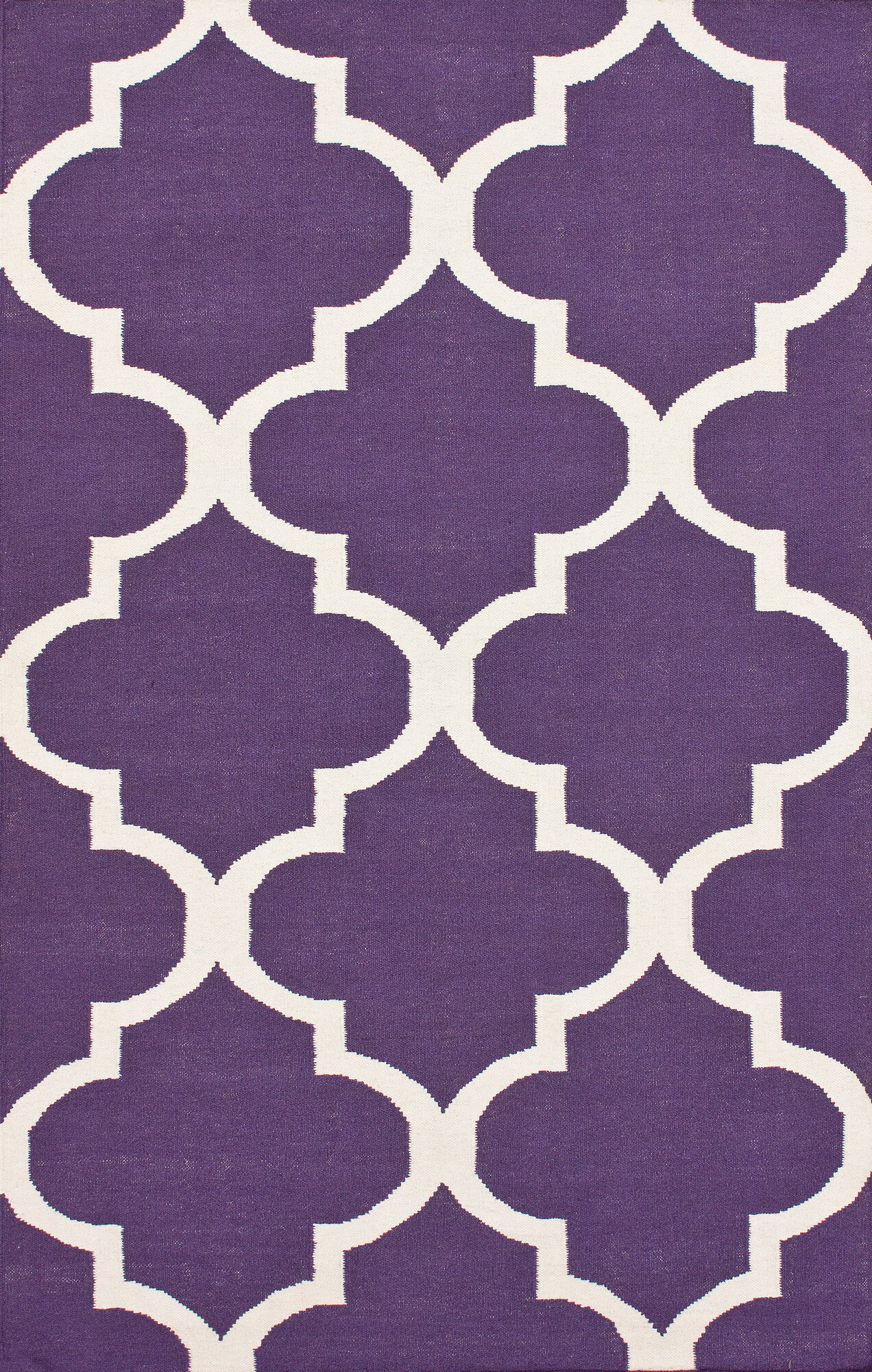 ... Marbella Moroccan Trellis Purple Kilim Rug ...