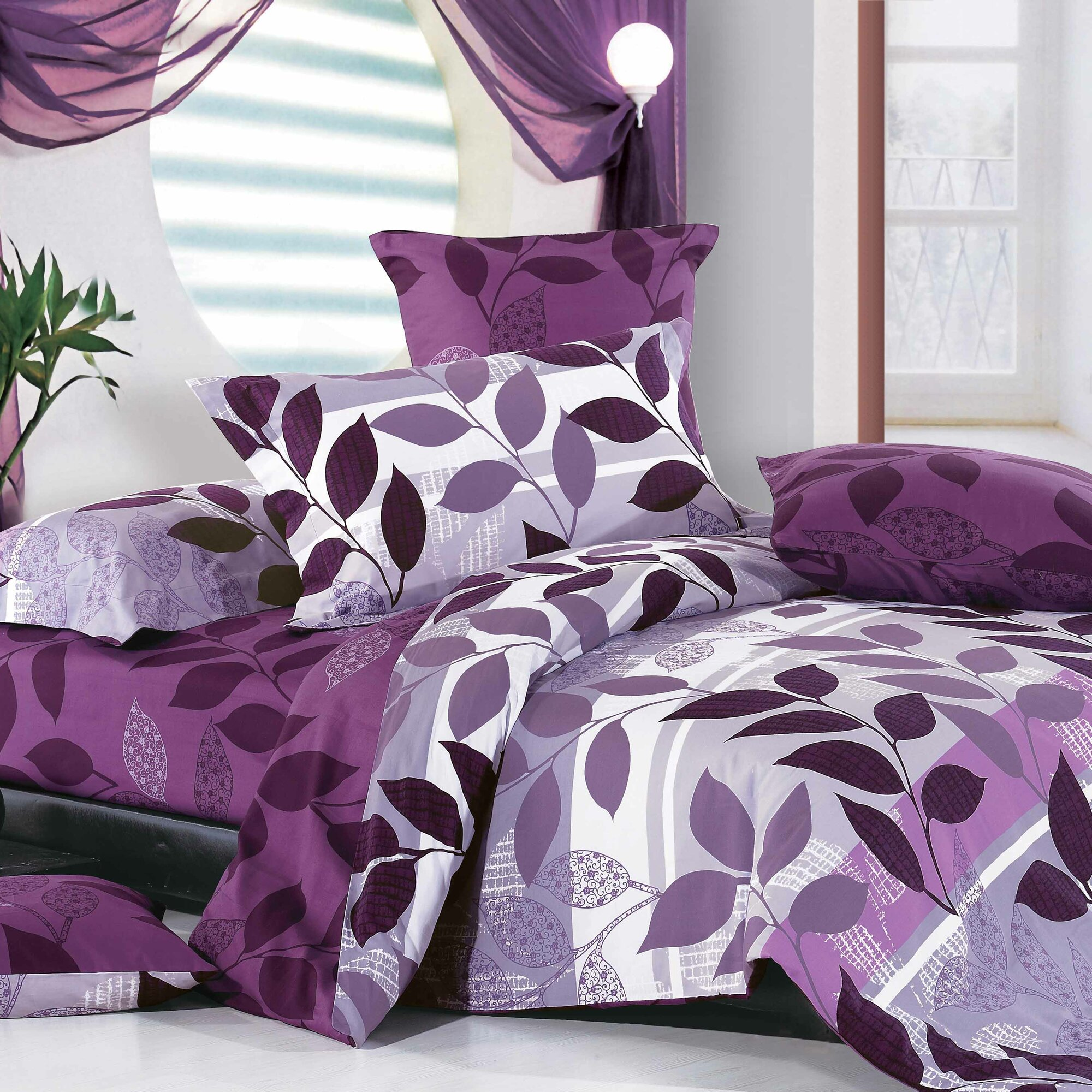 Purple Comforters Walmart North Home Rosemary Piece Duvet Cover Set