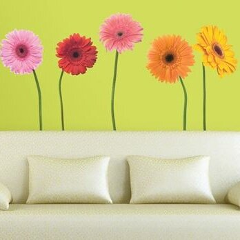 Inspirational  Gerber Daisies Wall Decal Set