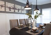 Cozy Gray Dining Room