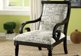 High/Low: Script Fabric Accent Chairs