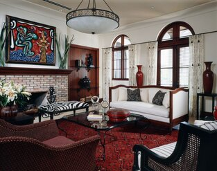 Eclectic Living Room photo by B. Pila Design Studio