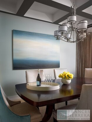 Contemporary Dining Room photo by Frances Herrera Interior Design