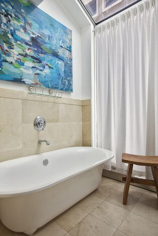 Modern Bathroom photo by Marie Burgos Design