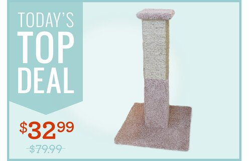 "33"" Sisal-Rope Scratching Post"
