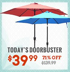 9' Outdoor Market Umbrella