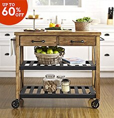 Kitchen Carts & Stylish Storage