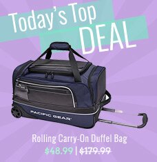 Rolling Carry-On Duffel Bag