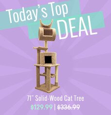 "71"" Solid-Wood Cat Tree"
