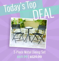 3-Piece Metal Dining Set